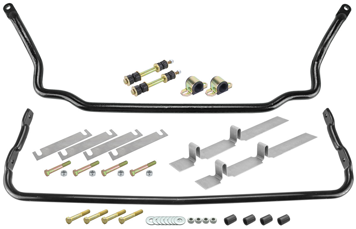 Original Parts Group Sway Bar Kit, 1964-77 A-Body / 1976-79 Seville, Solid, Front/Rear, Import