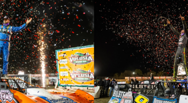 It's the Kyle and Kyle Show at World of Outlaws Late Models Season Opener