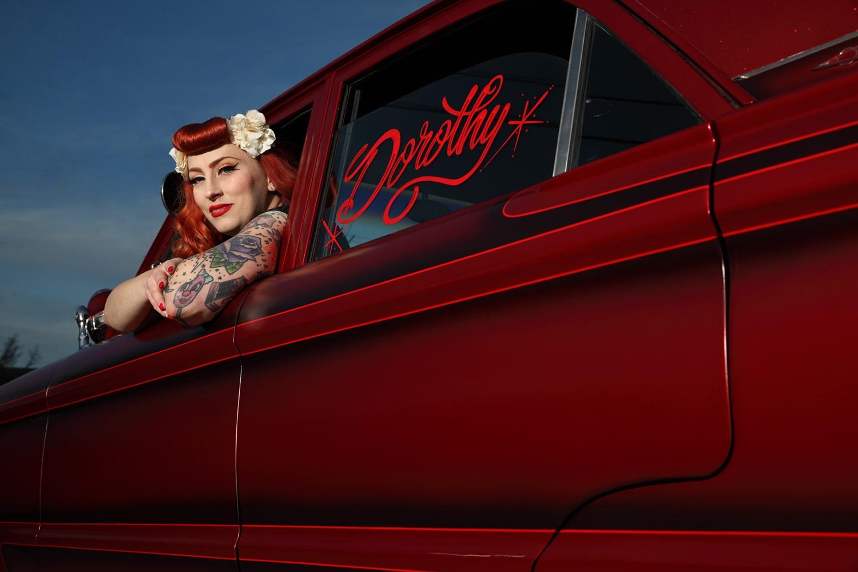 Trisha and her 1962 Mercury Comet Dorothy