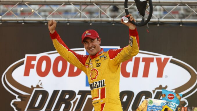 Joey Logano Bristol NASCAR Dirt Race