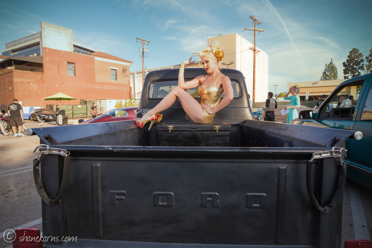 Pinup Pole Show Pinup of the Week: Heather Lou and 1956 Ford pickup Photo 4