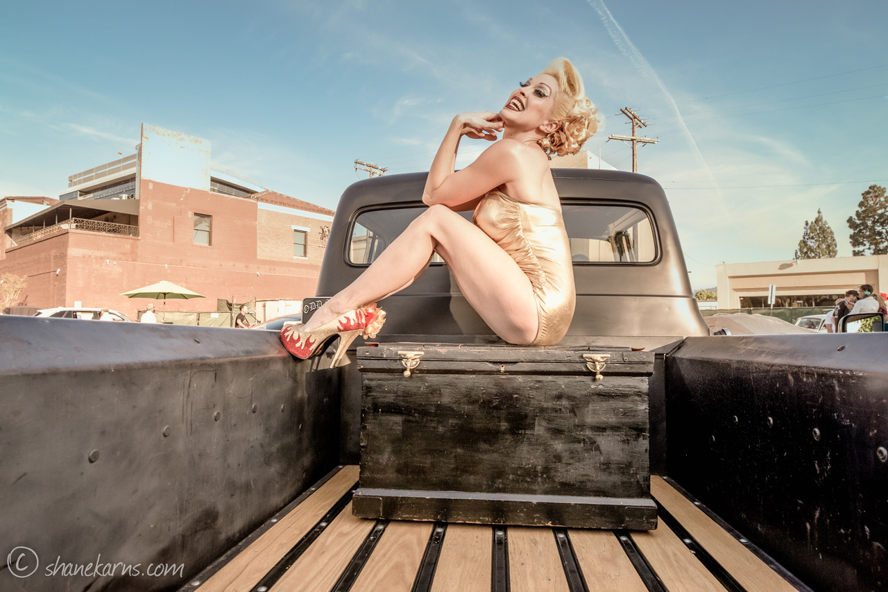 Pinup Pole Show Pinup of the Week: Heather Lou and 1956 Ford pickup Photo 2