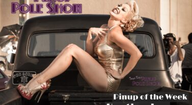 Pinup Pole Show Pinup of the Week: Heather Lou and 1956 Ford pickup
