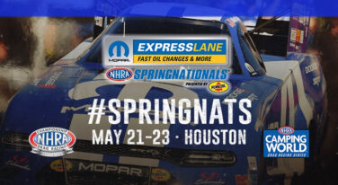 NHRA and Houston Raceway Park Announce Mopar Express Lane NHRA SpringNationals Presented By Pennzoil Will be a Two Day Event