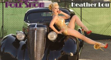 Tonya Kay's Pinup Pole Show: Heather Lou with a 1937 Nash Lafayette