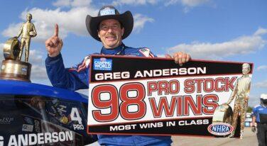 Greg Anderson Drives to History Making Victory at Texas NHRA Fall Nationals